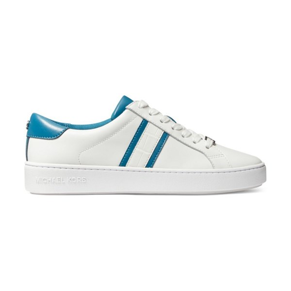 MICHAEL Michael Kors irving leather sneakers in optic white
