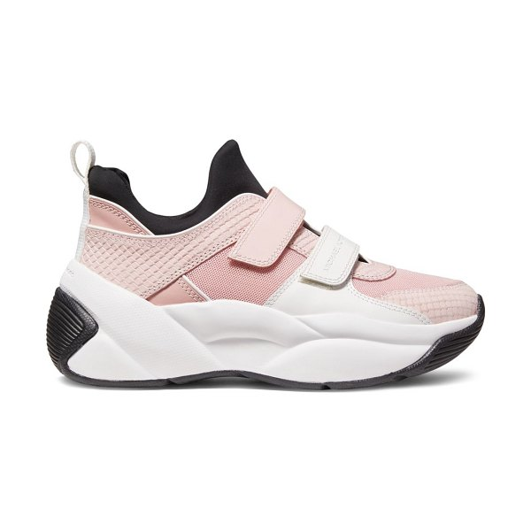 MICHAEL Michael Kors Keeley Mixed-Media Trainers in smokey rose