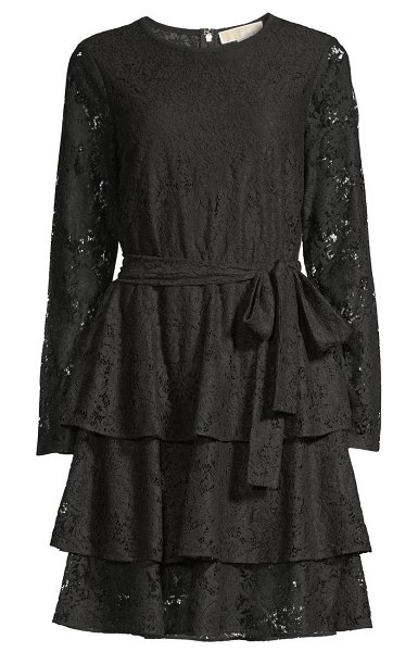 MICHAEL Michael Kors lace tiered dress in black