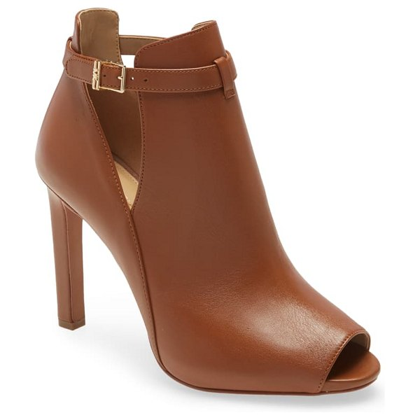 MICHAEL Michael Kors lawson open toe bootie in luggage