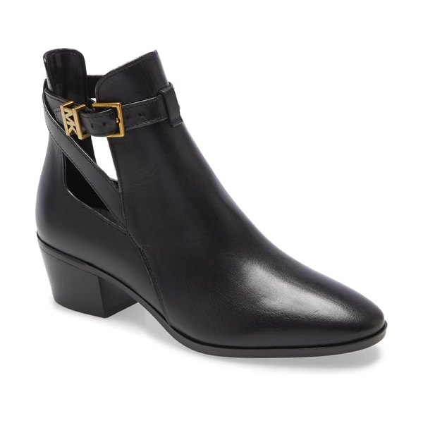 MICHAEL Michael Kors wilkes cutout bootie in black leather