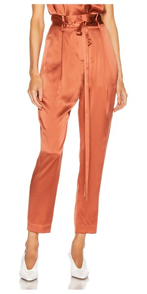 Michelle Mason paperbag cropped trouser in dune