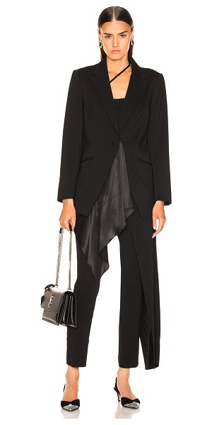 Michelle Mason Silk Drape Blazer in black - Self: 95% viscose 5% elastan - Contrast Fabric & Lining:...