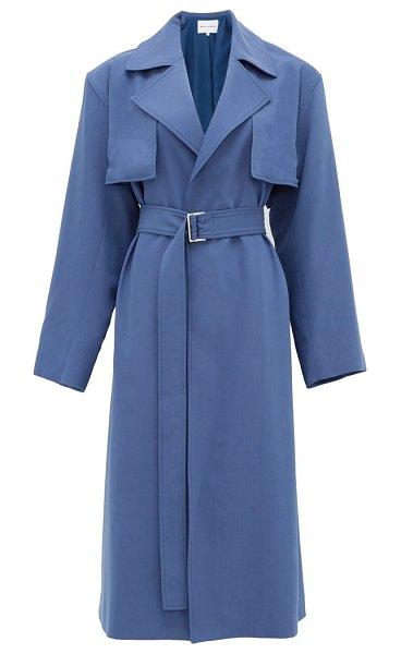 Michelle Waugh the carina oversized cotton-blend trench coat in blue
