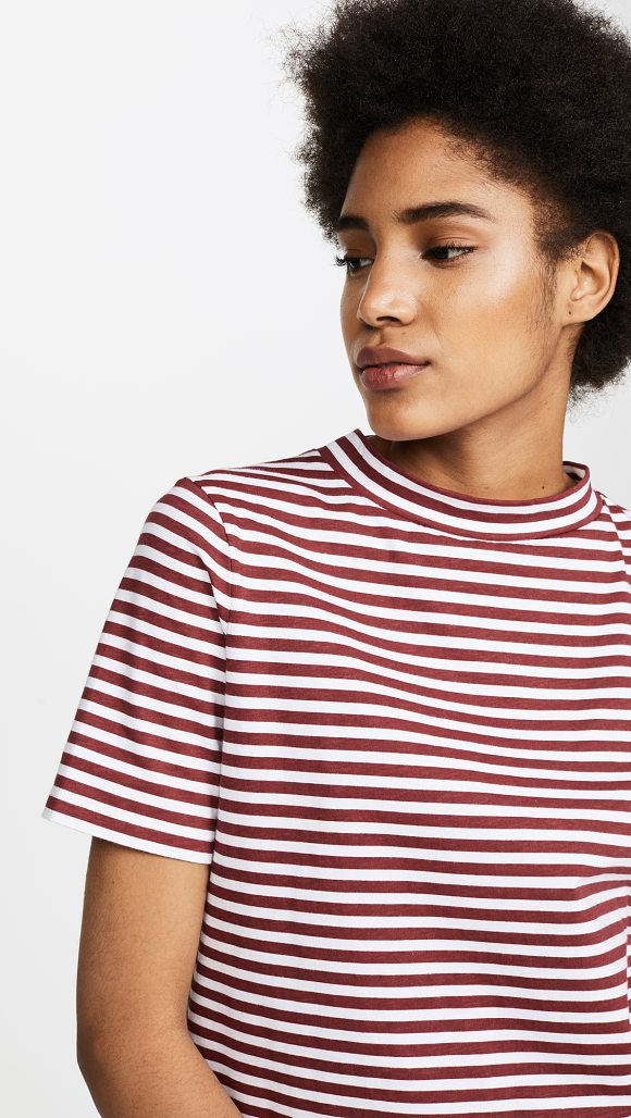 M.I.H JEANS penny tee - Bold stripes detail this slouchy M.i.h Jeans tee. Short...