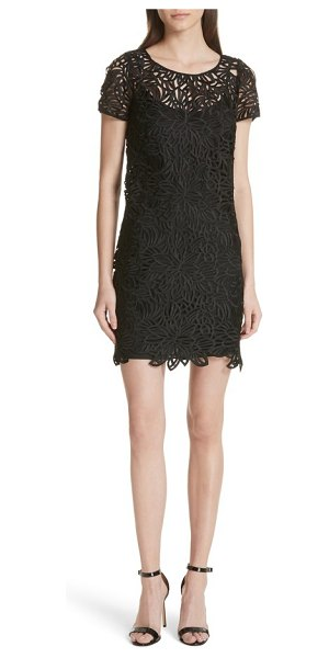 Milly Chloe Lace Shift Dress In Black Shopstasy