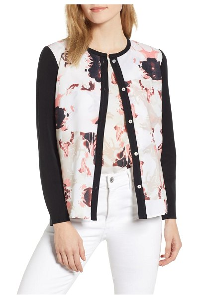 Ming Wang floral cardigan in multi