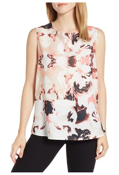 Ming Wang floral tank in multi