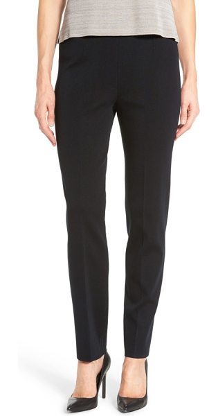 Ming Wang pull-on knit pants in black