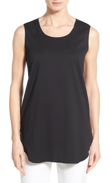 Ming Wang sleeveless woven shell in black