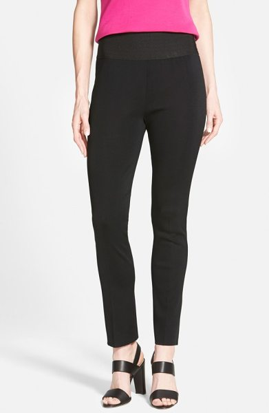 Ming Wang slim knit pants in black