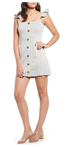 MINKPINK button stripe minidress in black and white stripe