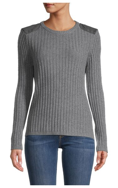 Minnie Rose Cashmere & Cotton-Blend Sweater in grey