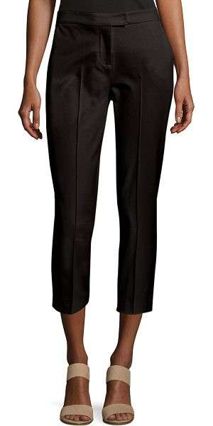 Misook Collection Stretch-Cotton Cropped Pants in black