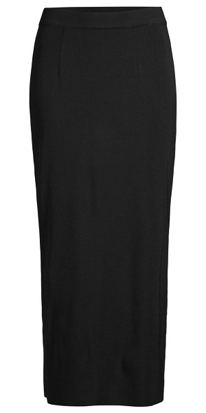 Misook knit long straight skirt in black