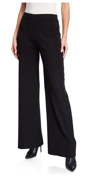 Misook Knit Palazzo Pants in black