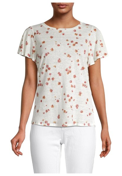 Miss Me Floral Linen T-Shirt in multi