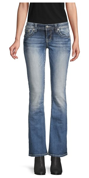 Miss Me Medium-Wash Bootcut Jeans in blue multi