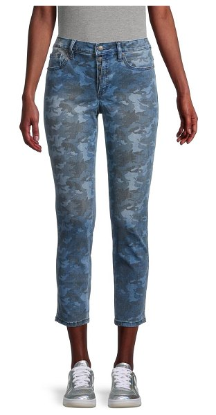 Miss Me Mid-Rise Ankle Skinny Camouflage Jeans in camo blue