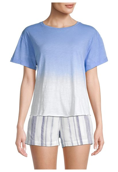 Miss Me Ombre Dye Twist T-Shirt in blue