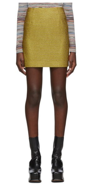 Missoni gold lurex miniskirt in s103n gold