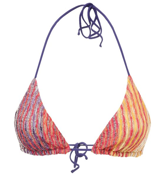 Missoni Knit lurex triangle bikini in multicolor