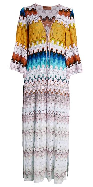 Missoni Mare knit kaftan cover-up in neutral