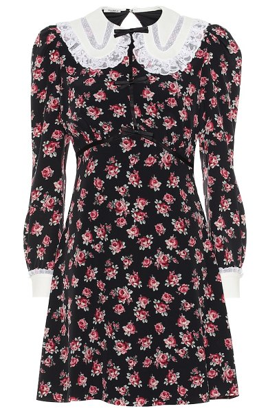 Miu Miu floral minidress in multicoloured