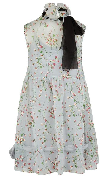 Miu Miu Flower print dress in light blue