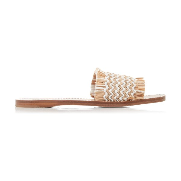 Miu Miu frayed raffia slides in multi
