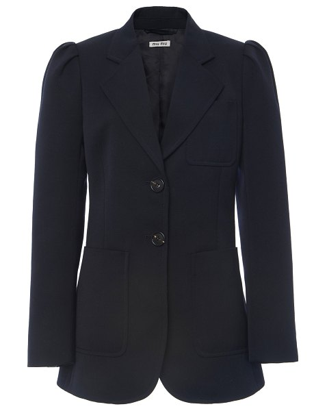 Miu Miu notched wool blazer in black
