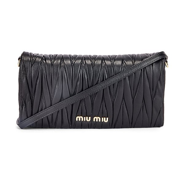 Miu Miu quilted crossbody bag in black