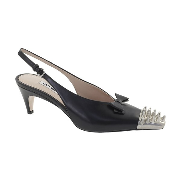 Miu Miu spike-embellished leather pumps in black