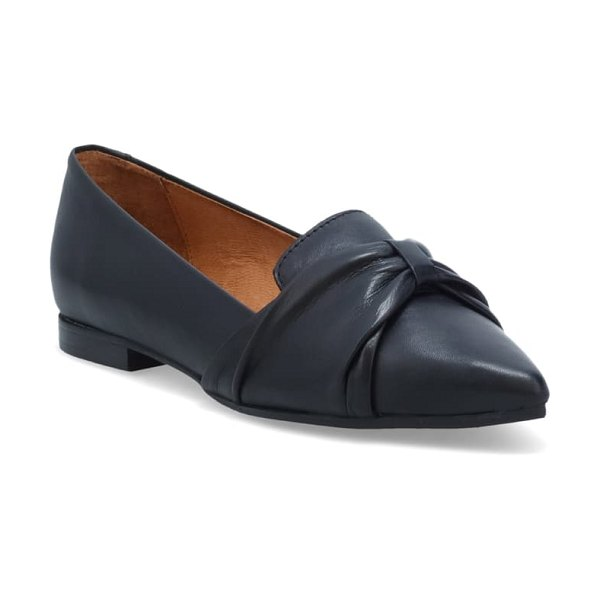 Miz Mooz jadie flat in black leather