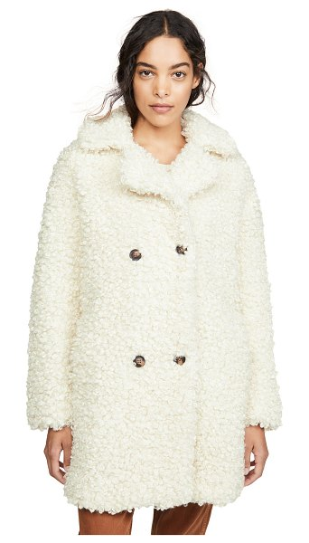 MKT studio midrix teddy coat in craie