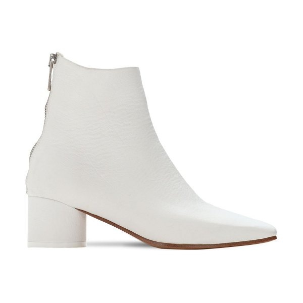 MM6 Maison Margiela 45mm leather ankle boots in white