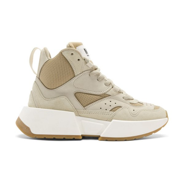 MM6 Maison Margiela beige high-top chunky sneakers in t2014 wh sw