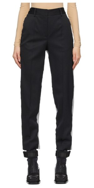 MM6 Maison Margiela black and grey spliced trousers in 962 black