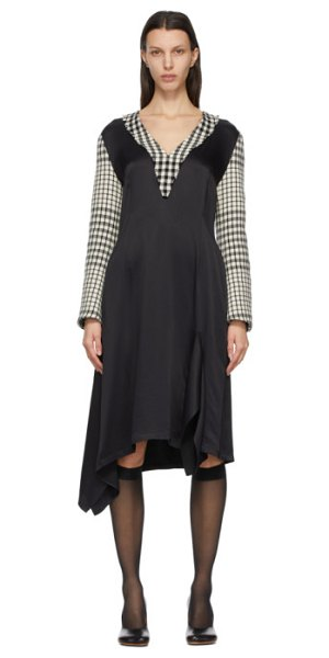 MM6 Maison Margiela black and white check dress in 900