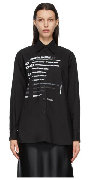 MM6 Maison Margiela black motocross logo shirt in 900 black