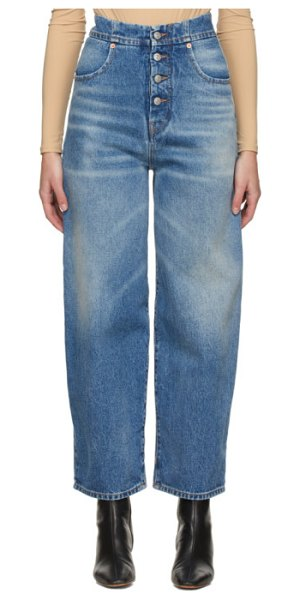MM6 Maison Margiela blue carrot jeans in 965 used bl