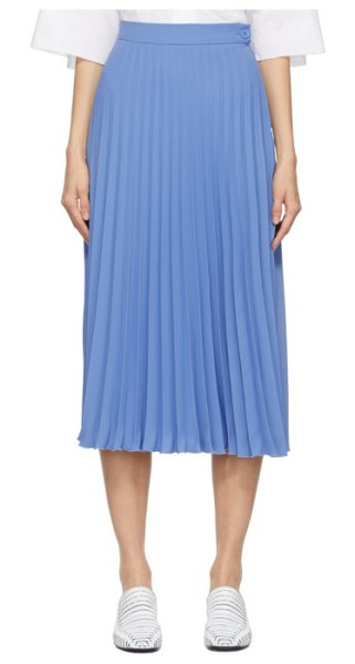 MM6 Maison Margiela blue pleated skirt in 521 blue