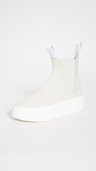 MM6 Maison Margiela chunky pull on boots in birch white