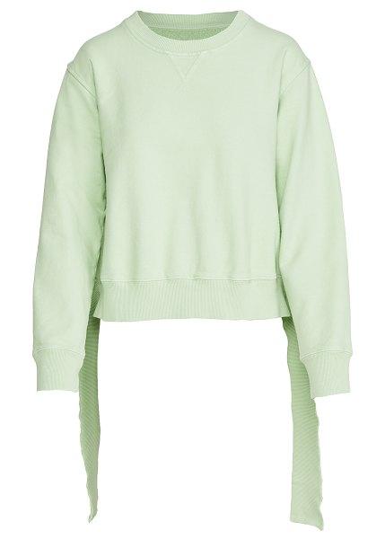 MM6 Maison Margiela deconstructed hem sweatshirt in pistachio
