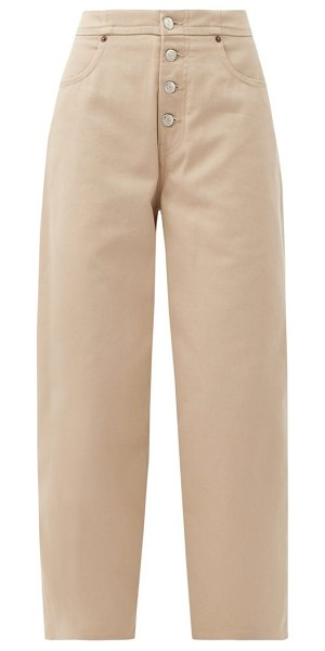 MM6 Maison Margiela exposed-button straight-leg jeans in beige