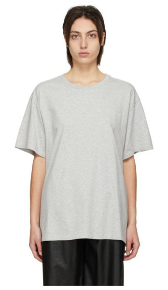 MM6 Maison Margiela grey back logo t-shirt in 858 grey