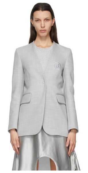 MM6 Maison Margiela grey wool collarless blazer in 856 grey
