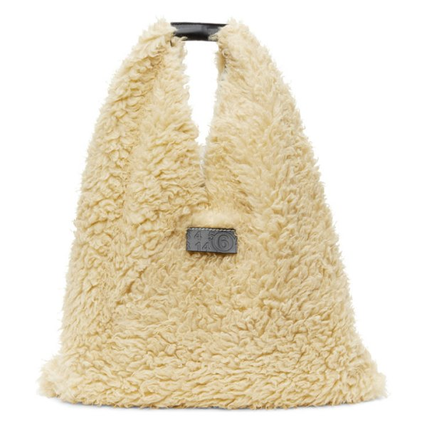 MM6 Maison Margiela off-white sherpa japanese tote in h0350 cream