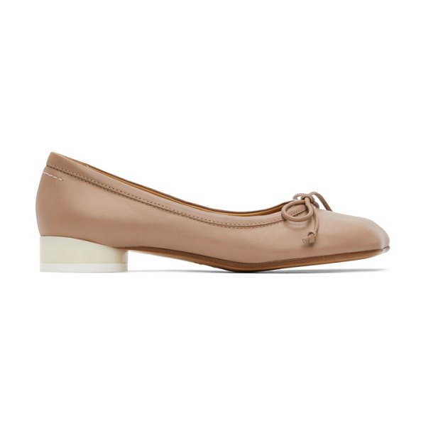 MM6 Maison Margiela pink leather ballerina flats in t4114 tusca