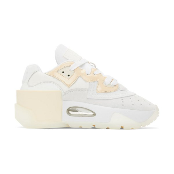 MM6 Maison Margiela white 6-cylinder sneakers in t1003 white